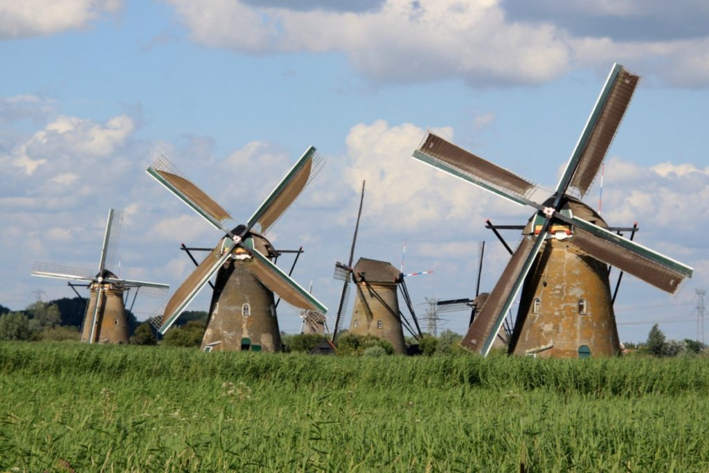 Old windmill in Holland